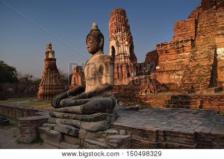 Buddha Facing Sunset