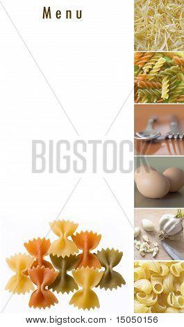 menu for pasta