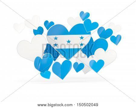 Flag Of Honduras, Heart Shaped Stickers