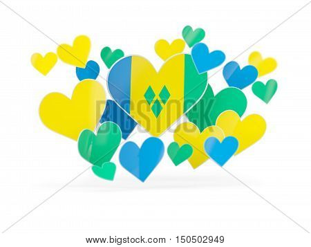Flag Of Saint Vincent And The Grenadines, Heart Shaped Stickers