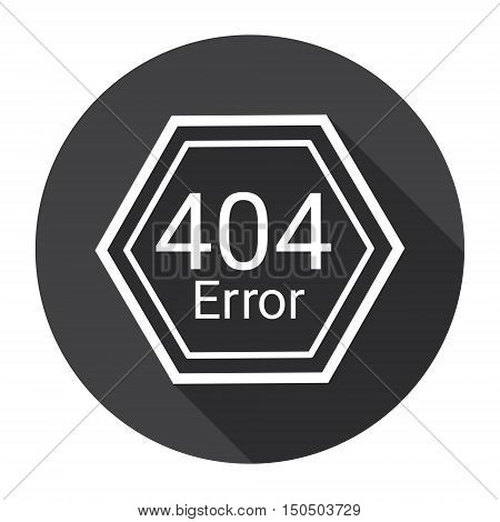 Error 404 Not Found Computer Icon Flat Vector Illustration