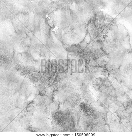 Paper watercolor texture black and white color with damages folds and scratches. Grunge empty grayscale background with space for text.