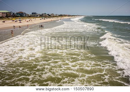 scenic views at oak island beach north carolina
