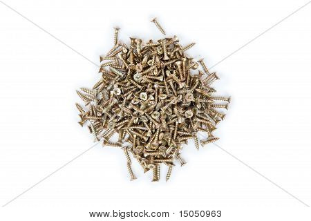Many Small Brass Self-atack Screws