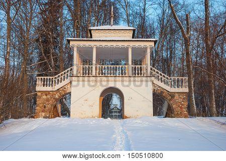 Antique gazebo, the rotunda in winter park