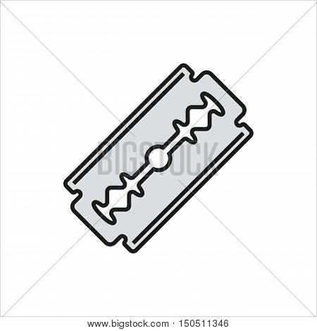 Blade razor icon Created For Mobile Web Decor Print Products Applications. Color icon isolated. Vector illustration.