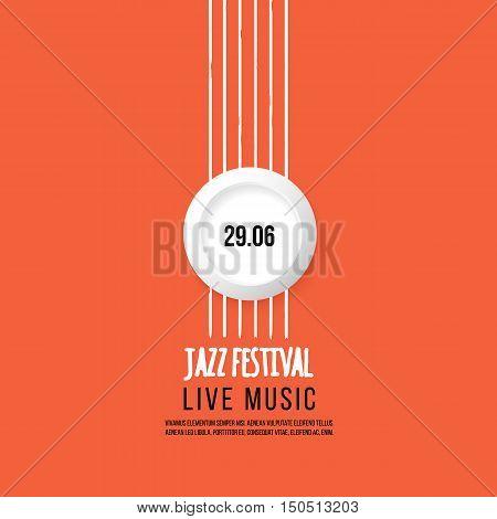 Jazz festival poster template. Jazz music. Saxophone. International Jazz Day. Vector design element.