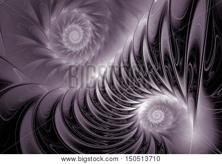 Abstract fractal computer-generated image. Fractal art background for creative design.