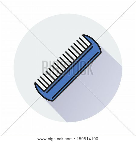 Comb Icon Created For Mobile Web Decor Print Products Applications. Color icon isolated. Vector illustration.