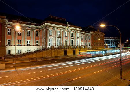 town hall of Potsdam by night germany