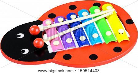 Xylophone in the shape of a ladybug