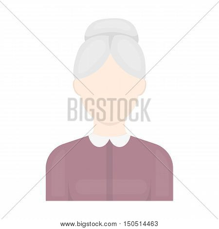 Grandmother icon cartoon. Single avatar, peaople icon from the big avatar collection.