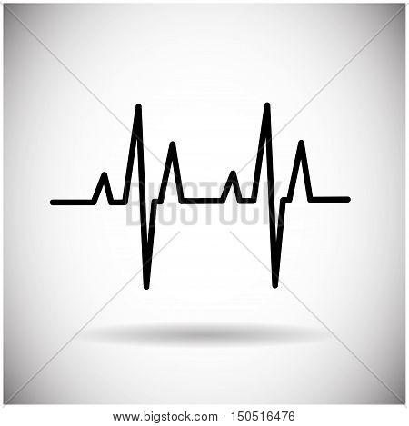 Heart Beat Pulse Medicine Icon Vector Illustration