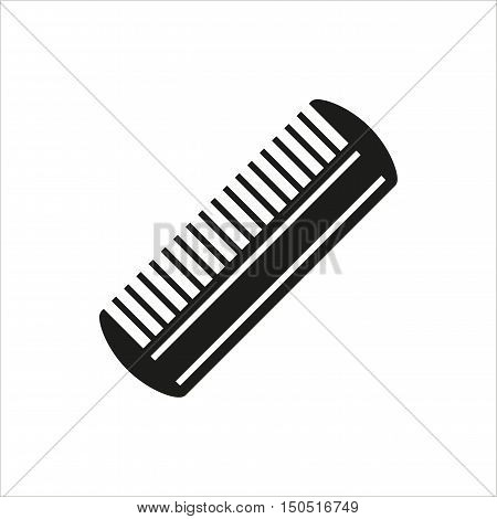 Comb Icon Created For Mobile Web Decor Print Products Applications. Black icon isolated. Vector illustration.