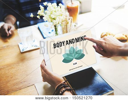 Body and Mind Concentration Restoration Spiritual Health care Concept