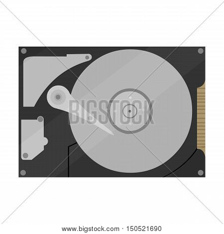 Hard disk icon cartoon. Single PC icon from the big technology collection.