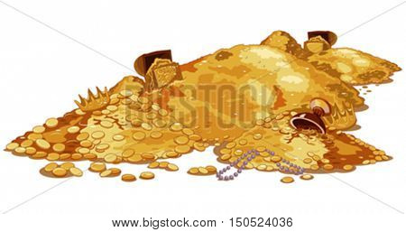 Illustration of a magic treasury