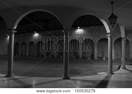 Night vision of a porch in Umbria