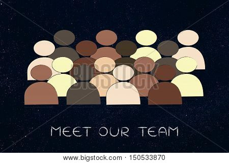Diversity In The Workplace: Multi Ethnic Team Illustration