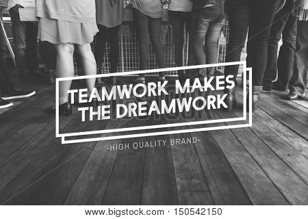 Teamwork Dream work Alliance Cooperation Unity Concept