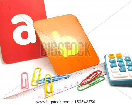 Stationary And Colorful Sign For Children Student