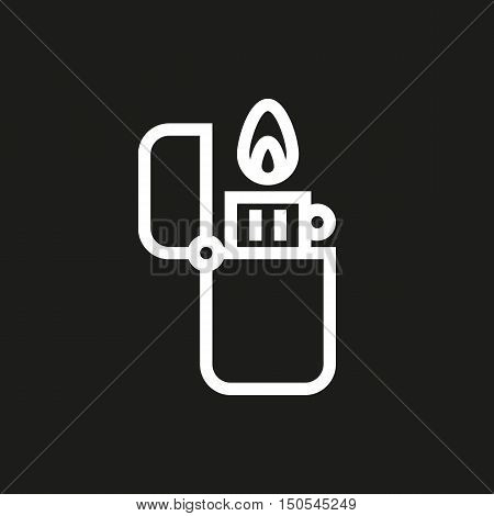 fire lighter icon on black background Created For Mobile Web Decor Print Products Applications. Icon isolated. Vector illustration.