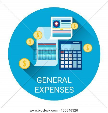 General Expenses Budget Planning Business Icon Flat Vector Illustration