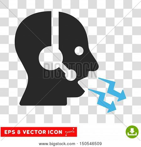 Vector Operator Shout EPS vector icon. Illustration style is flat iconic bicolor blue and gray symbol on a transparent background.