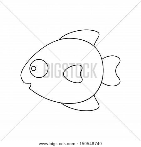 Fish line icon. Illustration for web and mobile.
