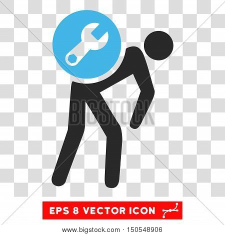 Vector Service Courier EPS vector pictogram. Illustration style is flat iconic bicolor blue and gray symbol on a transparent background.