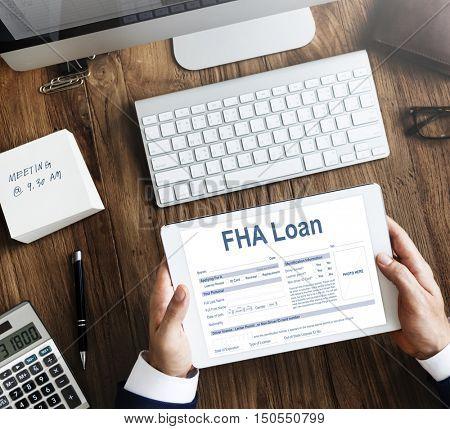 FHA Loan Federal Housing Administration Lending Concept