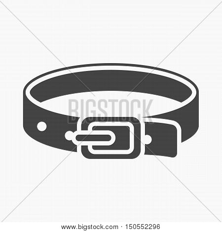 Pet collar icon of rastr illustration for web and mobile design