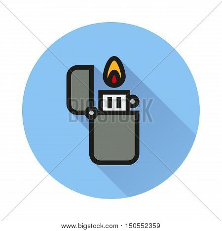 fire lighter icon on white background Created For Mobile Web Decor Print Products Applications. Icon isolated. Vector illustration.