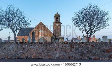The Elie Parish Church in Elie, Scotland