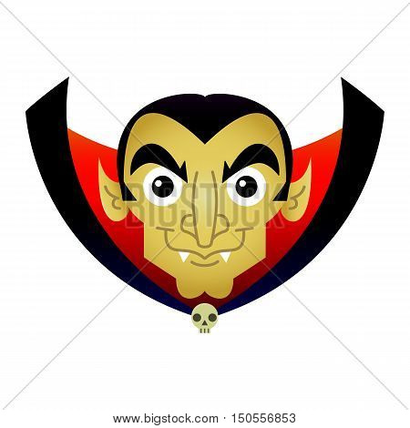 Vampire Dracula Evil Halloween character vector cartoon