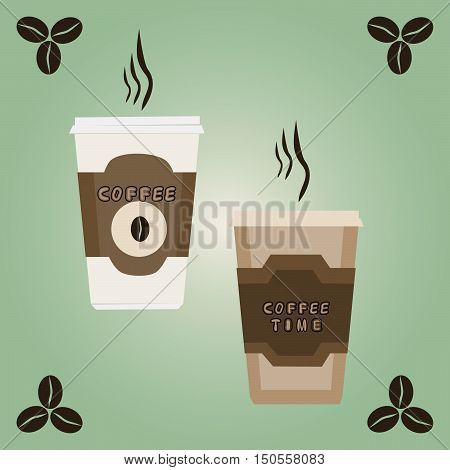 The Vector illustration of logo for coffee