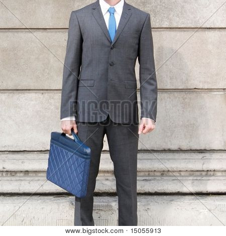 A very confident business man in a suit in London