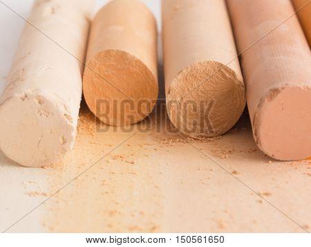 nude color  artistic crayons