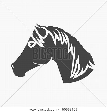 Muzzle horse icon cartoon. Singe western icon from the wild west collection.