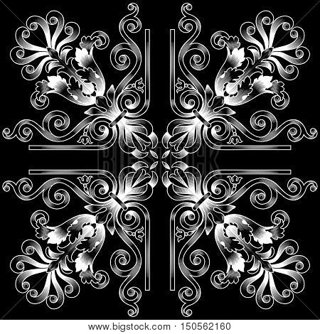 Vintage pattern, baroque pattern, frame pattern, scroll pattern, ornament pattern, engraving pattern, border pattern, floral retro pattern, antique style pattern, decorative pattern. vector