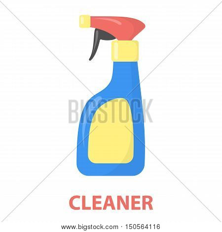 Cleaner spray cartoon icon. Illustration for web and mobile.