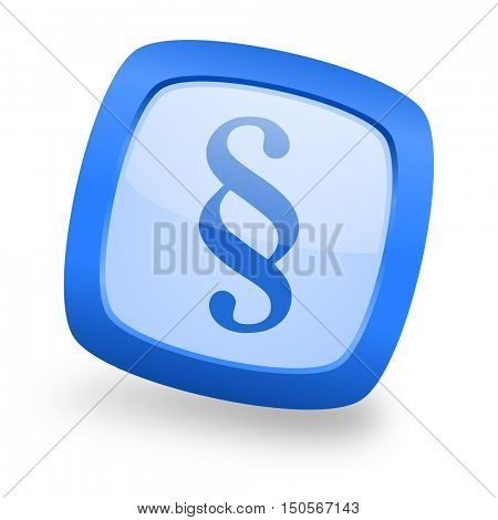 paragraph blue glossy web design icon