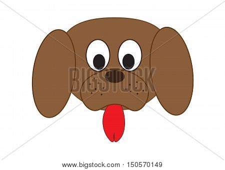 Dog's muzzle. Vector illustation. Our lovely pets. Animals.