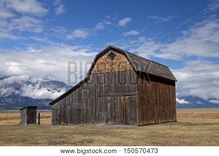 The Reed Moulton Barn in the Grand Teton National Park