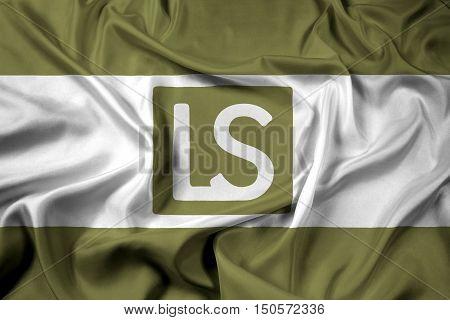 Waving Flag Of Lees Summit, Missouri, Usa