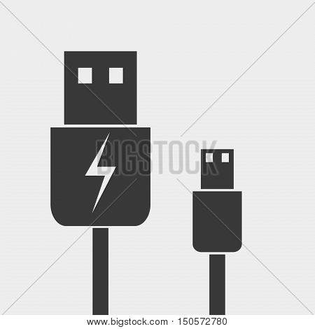 usb cable Icon. Charger icon vector illustration.