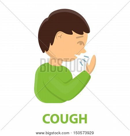 Cough icon cartoon. Single sick icon from the big ill, disease collection.
