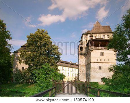 Ancient castle Blatna in South Bohemia in Czech republic