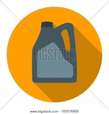Pouring Motor Oil icon flat. Single car repair symbol.