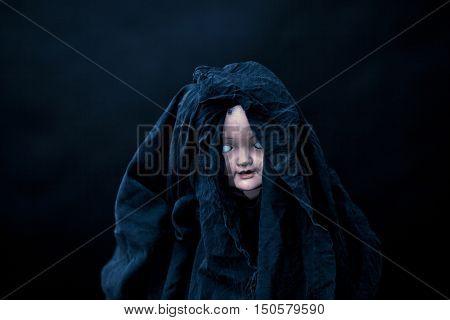 Creepy doll face